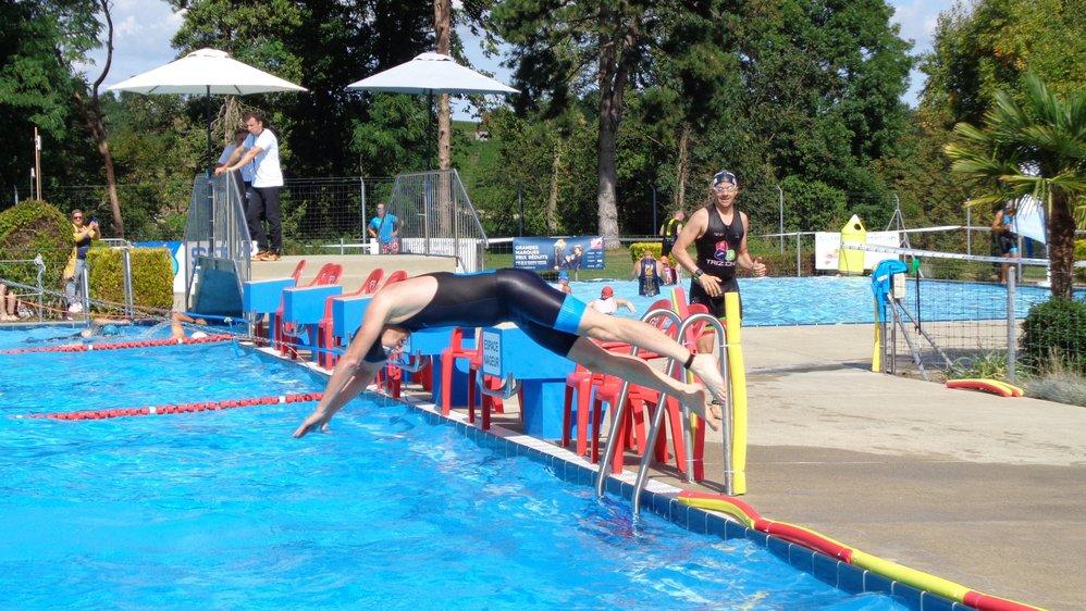 Une des particularités du tri aubonnois: son épreuve de nage en piscine.