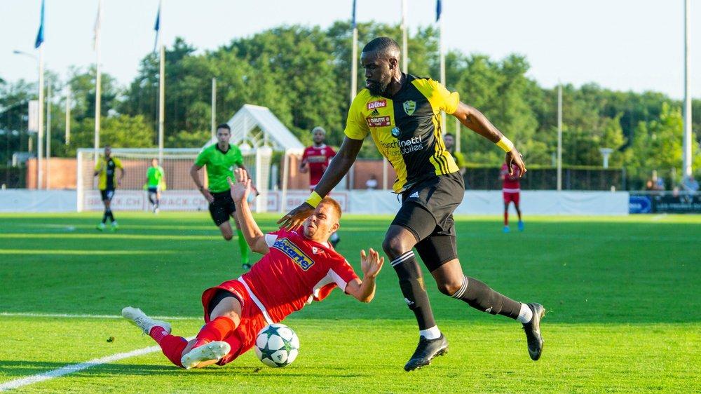 Jordi Nsiala et le Stade Nyonnais en démonstration à Breitenrain.