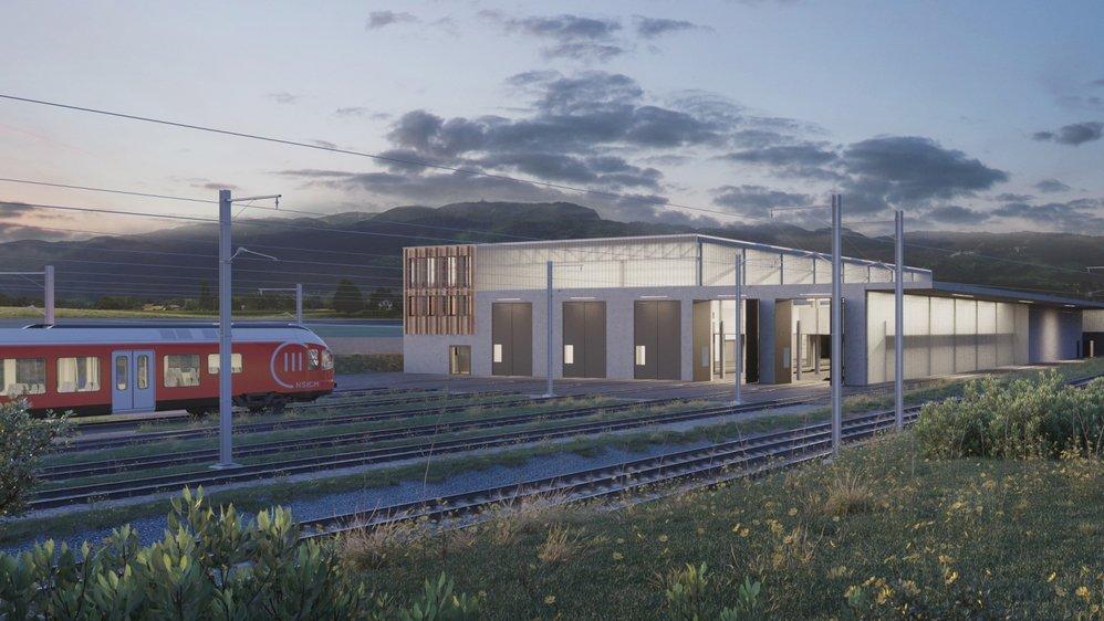 Le futur dépôt accueillera également les locaux administratifs.