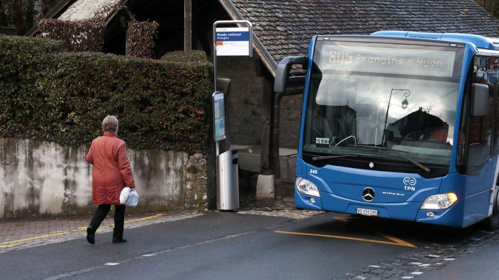 La commune de Prangins ne veut plus payer seule la ligne de bus 805.