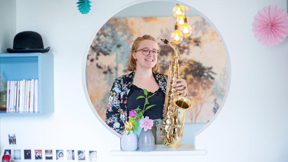Mariska Messerli, chez elle à Gilly: elle prépare la grande finale du Prix Musique 2019.