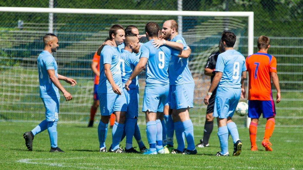 Avec les huit buts inscrits samedi soir, les Pranginois détiennent désormais la meilleure attaque du groupe.