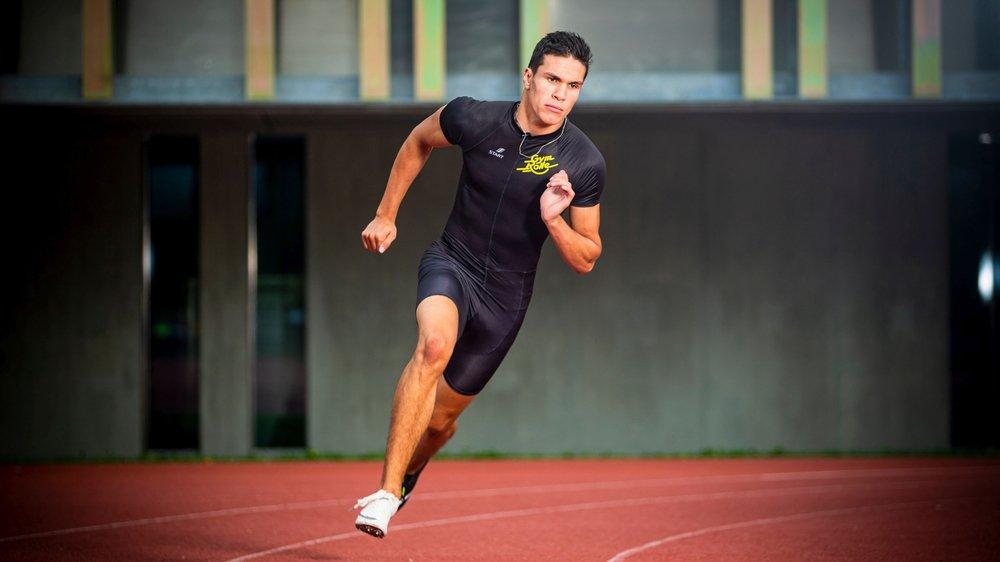 Maxime Baudraz s'entraîne cinq à six fois par semaine, la plupart du temps à Rolle.
