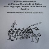 Concert en commun Union Chorale - Police de Genève