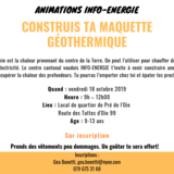 Animation info-énergie : Maquette géothermique