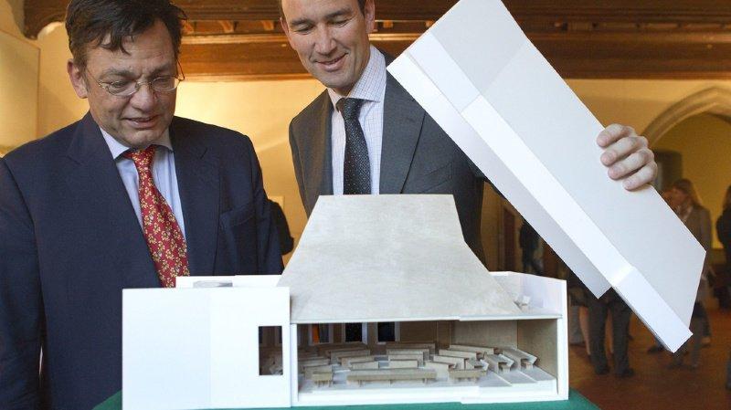 Renaud Gautier, ici à gauche aux côtés de l'ancien conseiller d'Etat Mark Muller. C'était en 2011 (archives).
