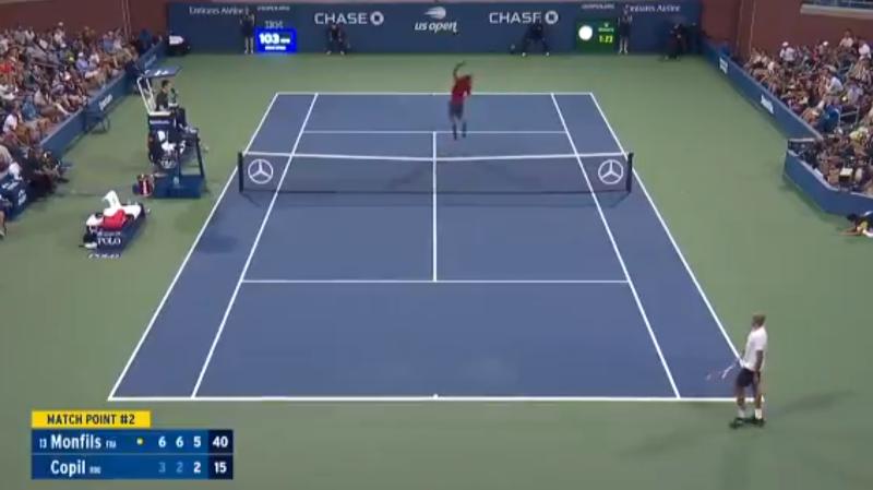 Tennis – US Open: un smash à 360°, la balle de match spectaculaire de Gaël Monfils