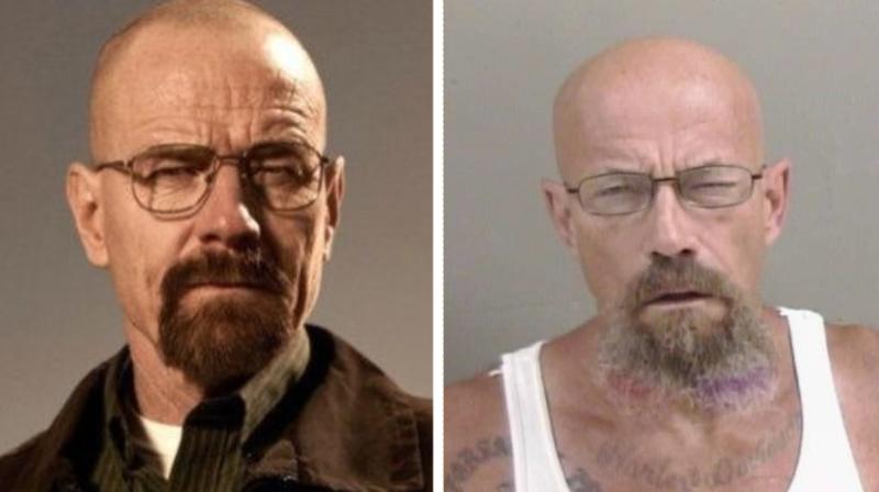La ressemblance entre les deux hommes a beaucoup amusé les fans de Breaking Bad.