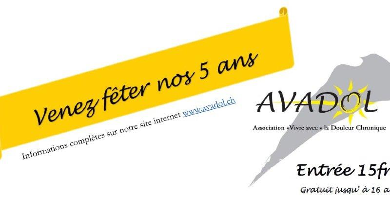 Soirée festive: 5 ans de l'association Avadol
