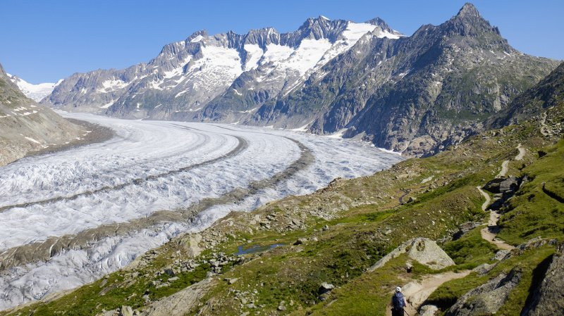 Changement climatique: le glacier d'Aletsch aura complètement disparu en 2100
