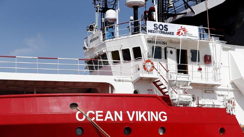L'Ocean Viking a succédé à l'Aquarius. Il effectuait sa deuxième mission en Mer Méditerranée. (Archives)