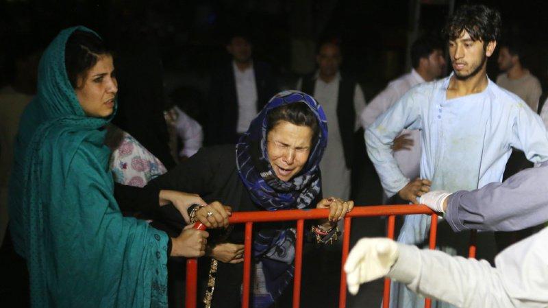 Cette femme a perdu son mari et deux fils dans l'explosion.