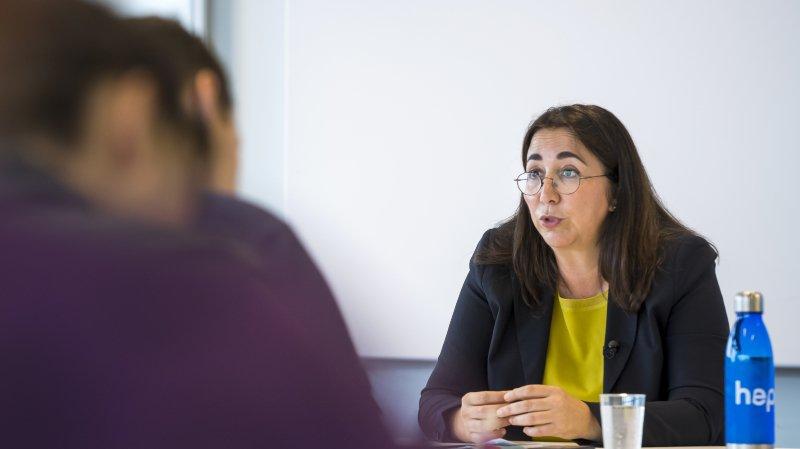 Cesla Amarelle lors de la conférence de presse au sujet de la rentrée 2019, ce mardi à Lausanne.