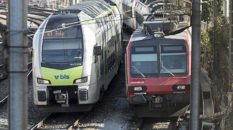 Transport ferroviaire: les CFF et le BLS trouvent un accord pour le trafic grandes lignes
