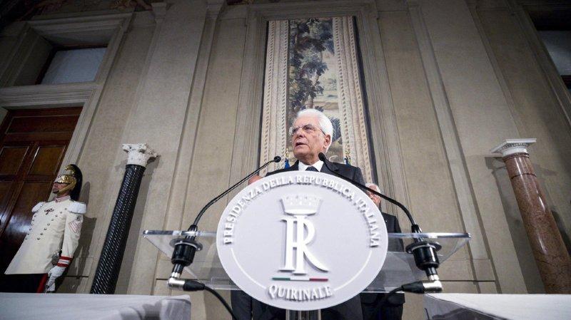 Le président italien Sergio Mattarella exige une sortie de crise rapide. Ou les Italiens devront retourner aux urnes.