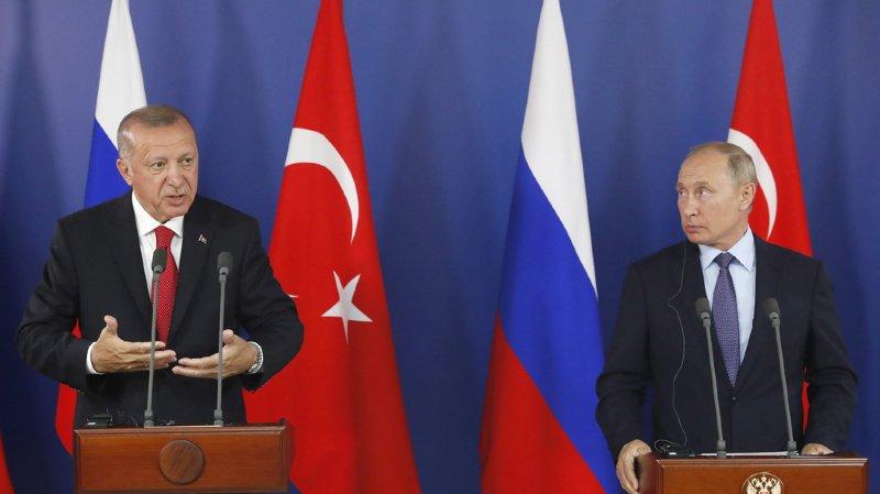 Syrie: Poutine et Erdogan partagent de «graves inquiétudes» quant à la situation de la région d'Idleb