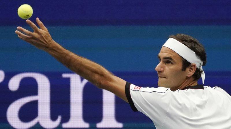 Roger Federer en action.