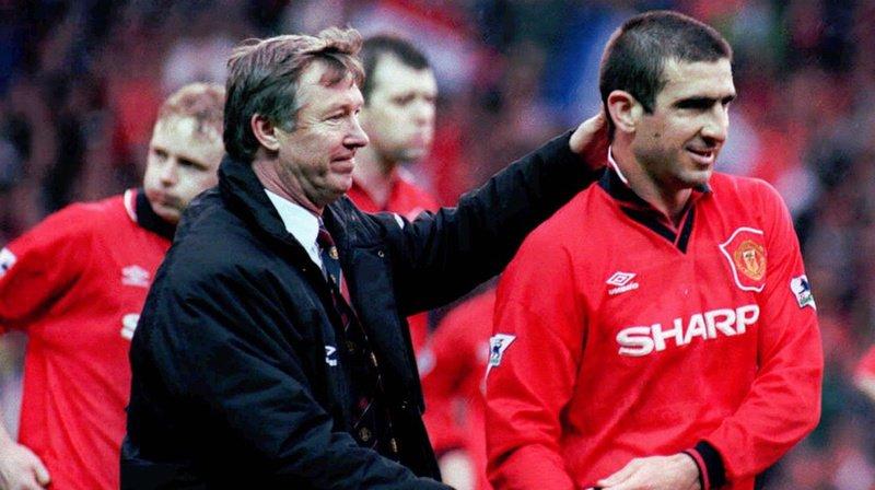 A Manchester, Alex Ferguson avait confié à Eric Cantona le brassard de capitaine (archives).