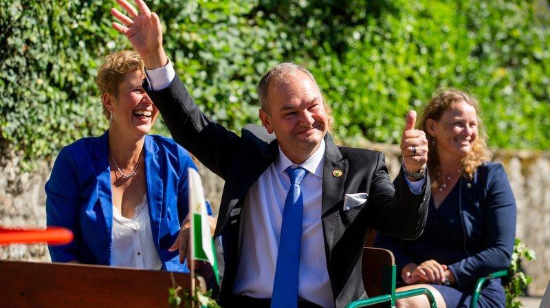 Trélex: le président du Grand Conseil Yves Ravenel fêté par tout le canton