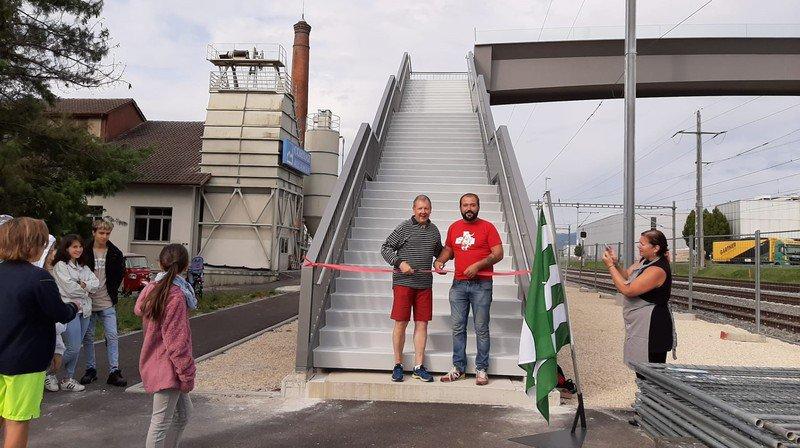 L'inauguration a eu lieu samedi, à la gare d'Allaman.