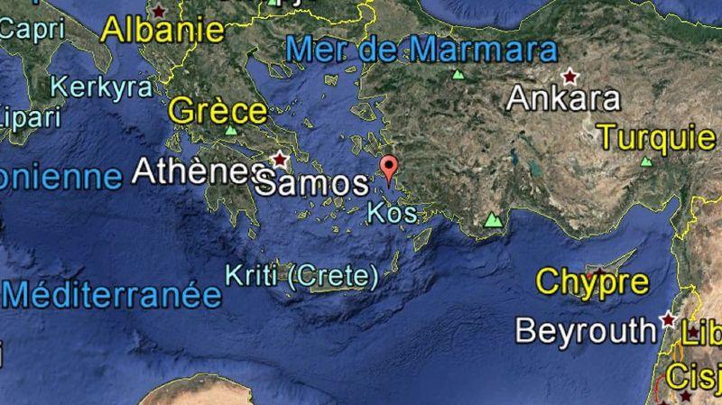 Quelque 70 pompiers et 13 véhicules ont été engagés dans la lutte contre le feu dans l'est de l'île de Samos.