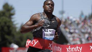 Athlétisme: le sprinter américain Coleman, le plus rapide du monde, a manqué 3 contrôles antidopage