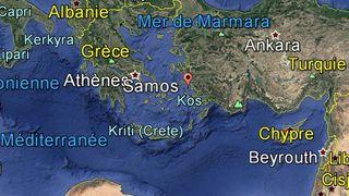 Feux de forêt en Grèce: centaines de touristes évacués sur l'île de Samos