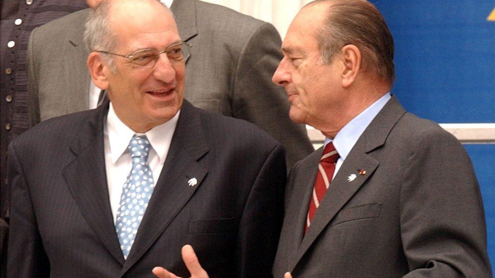Pascal Couchepin a rencontré Jacques Chirac à plusieurs reprises, pendant et après son passage au Conseil fédéral.