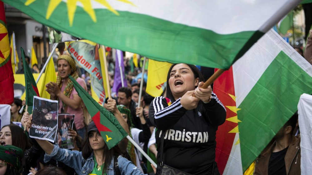 L'opération turque en Syrie est condamnée par la communauté internationale et par la Suisse elle-même–ici une manifestation à Zurich, samedi dernier.