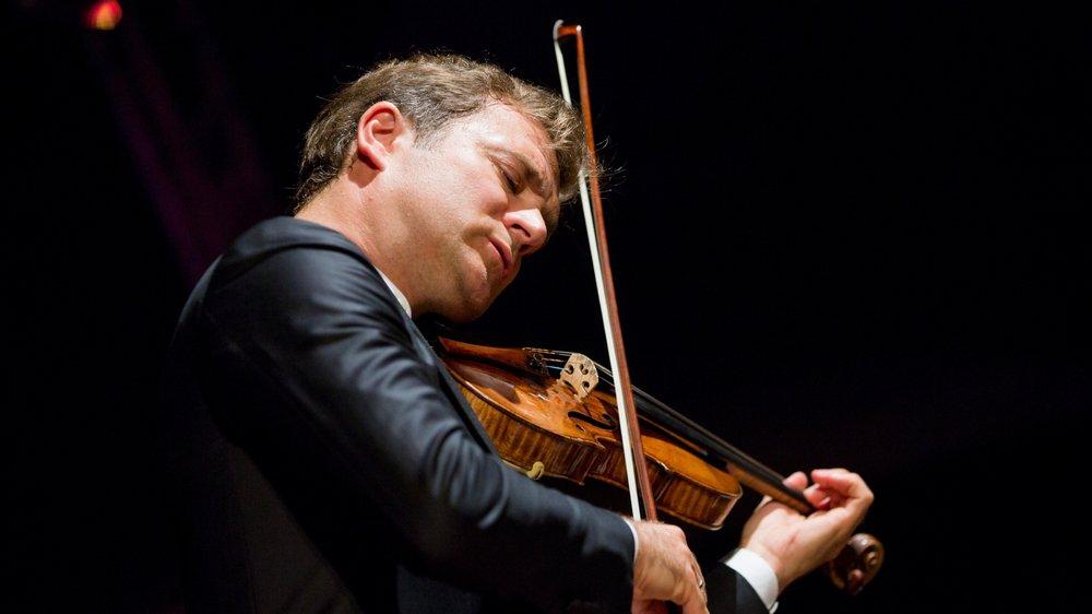 Renaud Capuçon au château de Tannay, en août 2017, aux Variations musicales.
