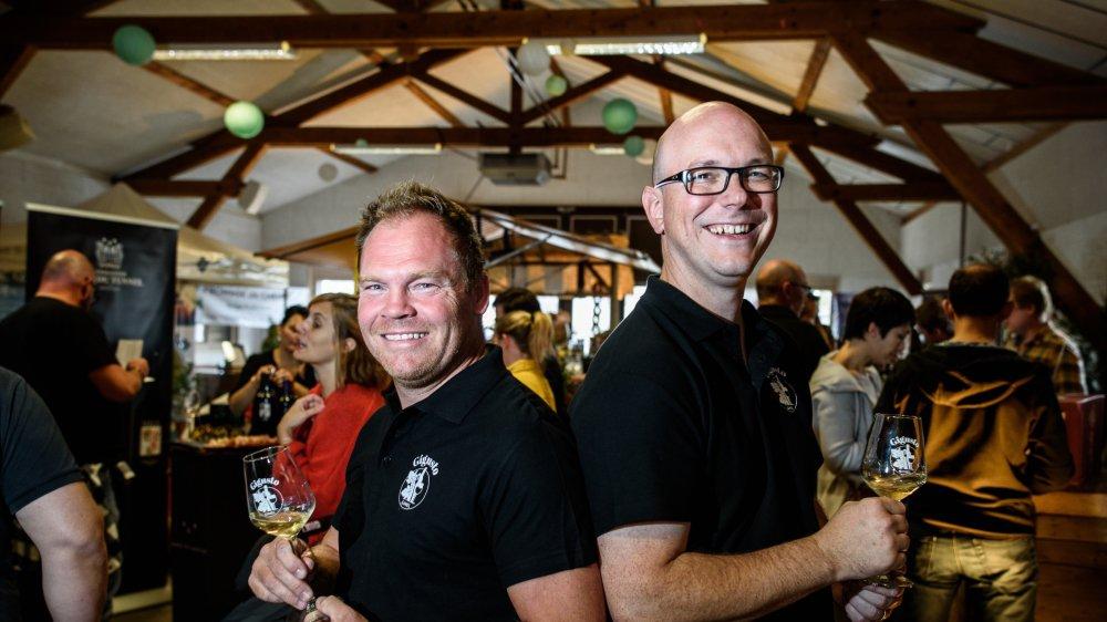 Julien Wolf (président) et Eric Berger (responsable marketing) comptent bien organiser une deuxième édition.