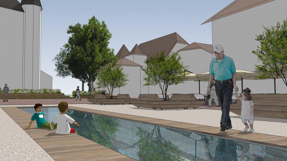La dernière version du projet prévoit notamment la construction d'un bassin.