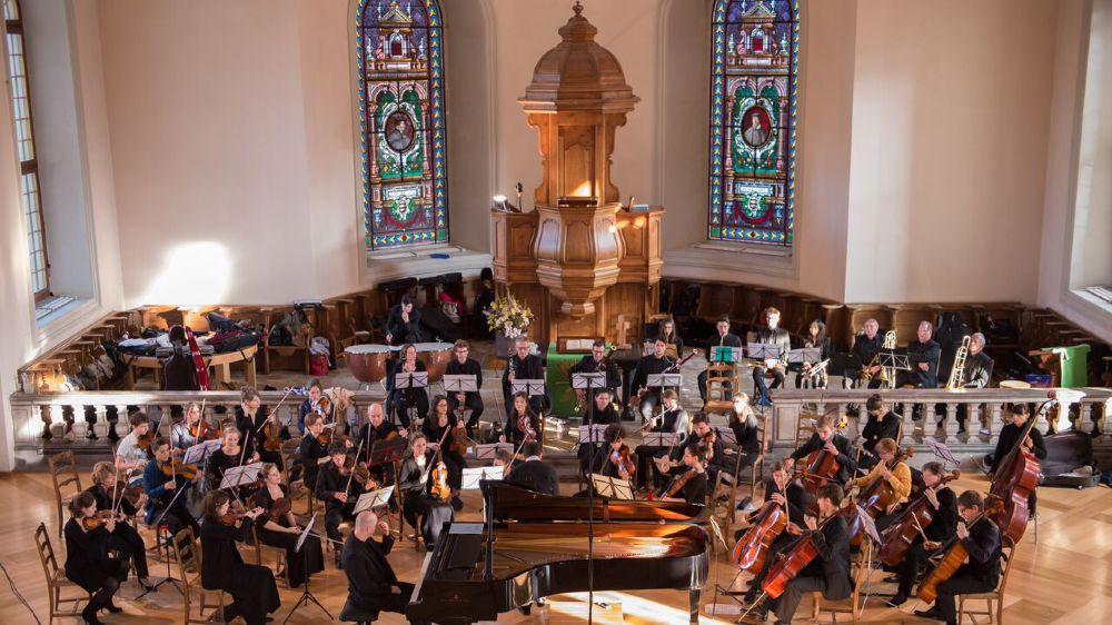 Les grands classiques remportent un vif succès, comme ici en 2016 au temple de Morges, la prestation de l'orchestre Riviera symphonique, avec Schumann et Brahms au programme.