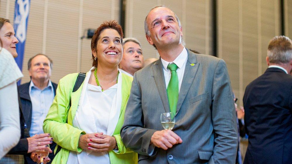 Sur La Côte, la Vert'libérale de Saint-George Isabelle Chevalley est sortie en tête de liste. Ici avec son colistier François Pointet.