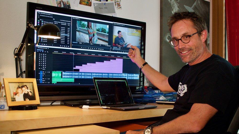 """Pierre Bossert a dû apprendre à utiliser un logiciel de montage pour donner vie à """"Pierre l'Apothicaire"""""""