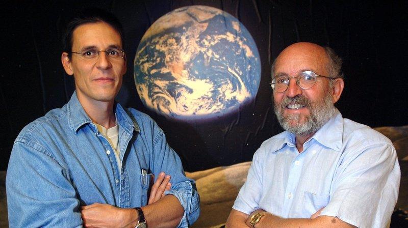 Michel Mayor et Didier Queloz, les deux astronomes genevois sur le toit du monde scientifique (archives).
