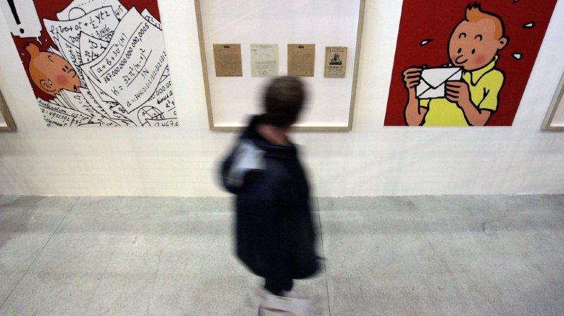 Bande dessinée: plus de 250'000 euros pour un dessin d'Hergé