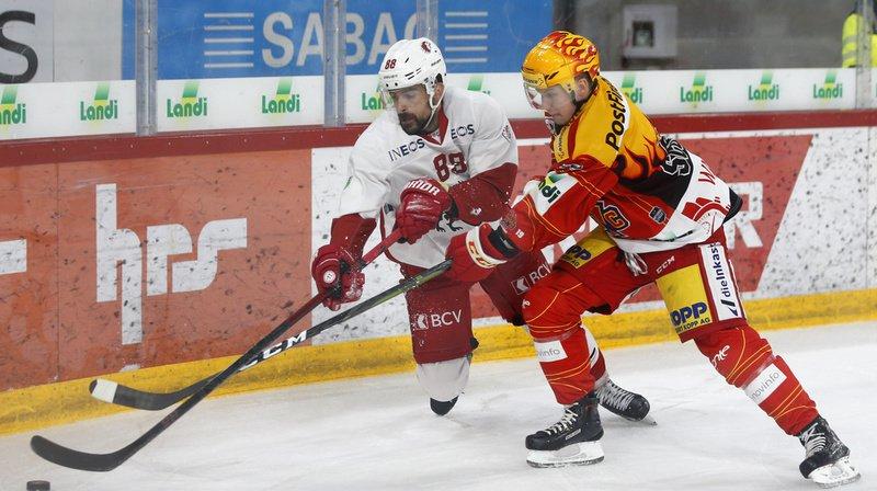 Hockey: Lausanne s'incline face à Bienne, Fribourg et Genève battus à l'extérieur