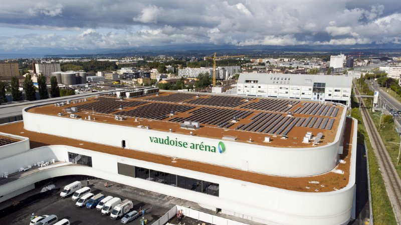 Lausanne: un faux plafond de la Vaudoise Arena s'effondre