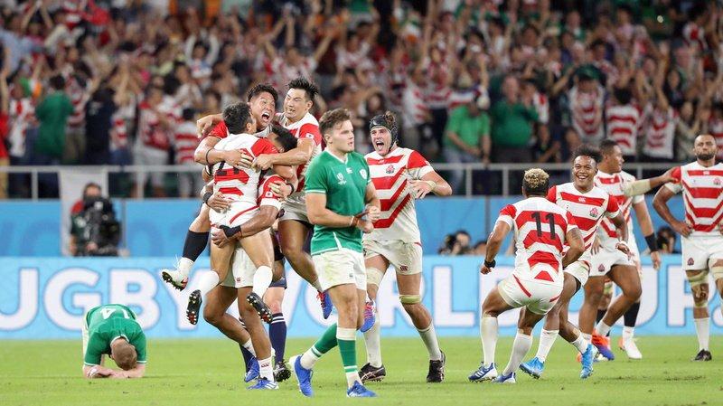 La joie était immense pour les Japonais à la fin de leur match contre l'Irlande.