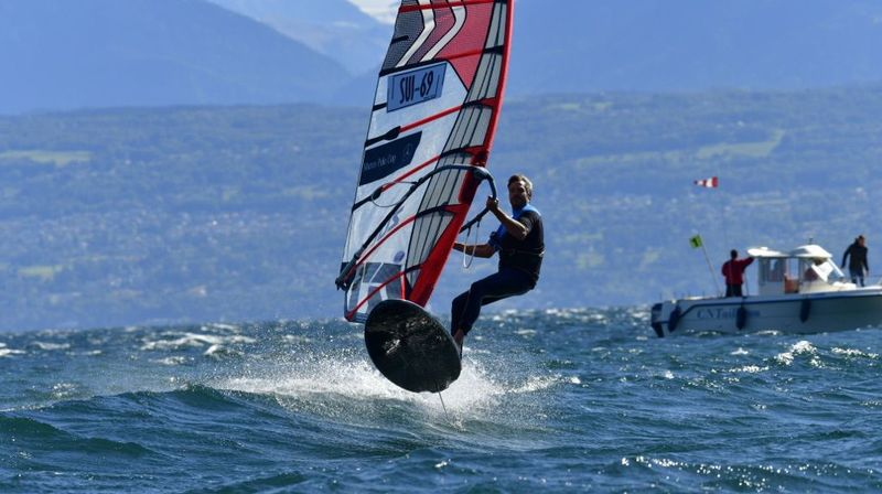 Les conditions étaient parfaites ce week-end et les concurrents ont pu s'amuser avec leurs planches à foil.