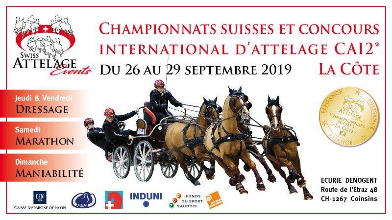 Championnats suisses et international d'attelage
