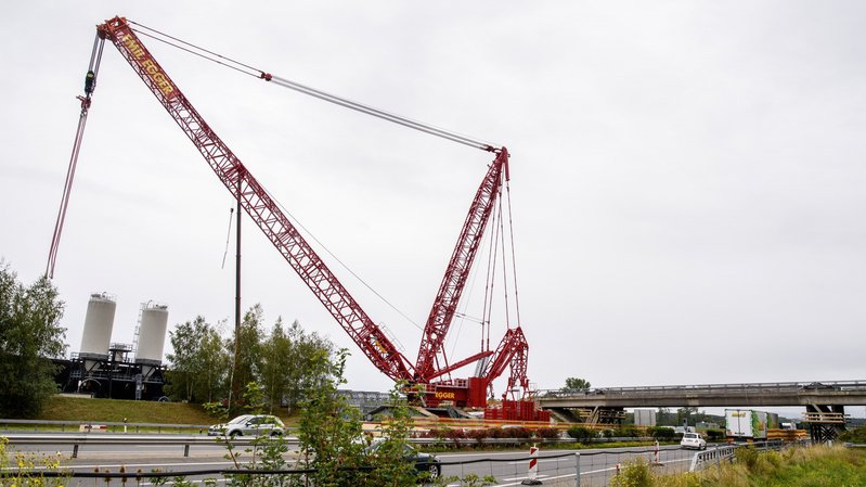 Autoroute fermée entre Gland et Rolle pour remplacer le pont de Bursins