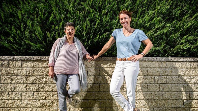 De gauche à droite: Mercedes Puteo, municipale fraîchement élue, et Catherine Lehmann, nouvelle syndique.