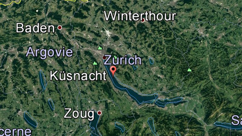 Le couple se trouvait dans son appartement, à Küsnacht.