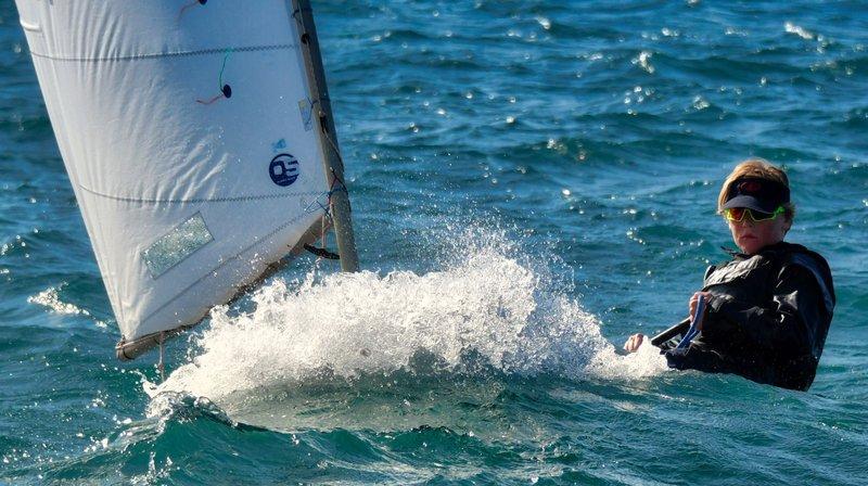 Les concurrents ont dû faire face à des conditions difficiles jeudi à cause de la bise.