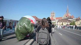 Lausanne: des militants d'Extinction Rébellion bloquent le pont Bessière