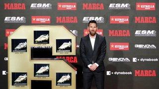 Lionel Messi reçoit son sixième Soulier d'or européen