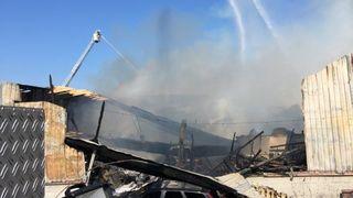 Une ferme a été la proie des flammes à Vuarrens