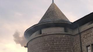 Morges: non le château ne brûlait pas, c'était un exercice